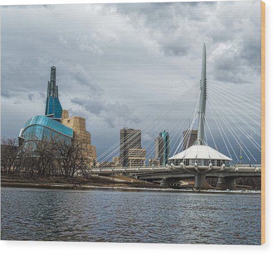 Red River At Winnipeg Wood Print