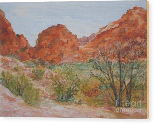 Red Rock Canyon Wood Print