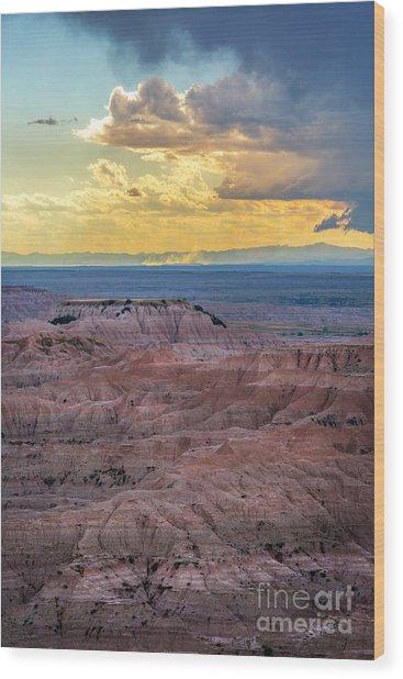 Red Rock Pinnacles Wood Print
