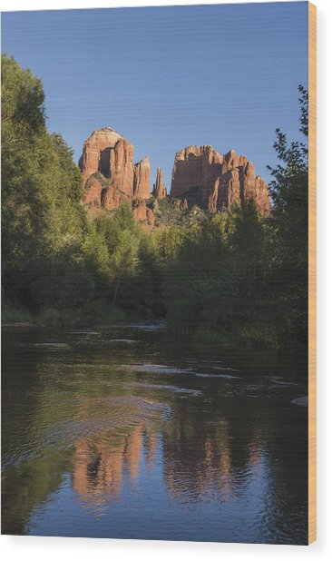 Red Rock Reflections Wood Print