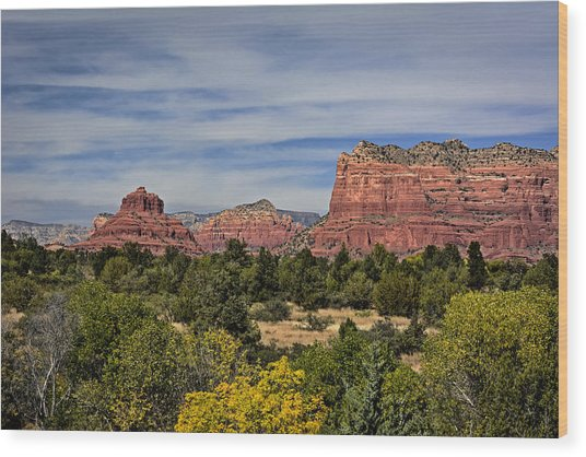 Red Rock Scenic Drive Wood Print