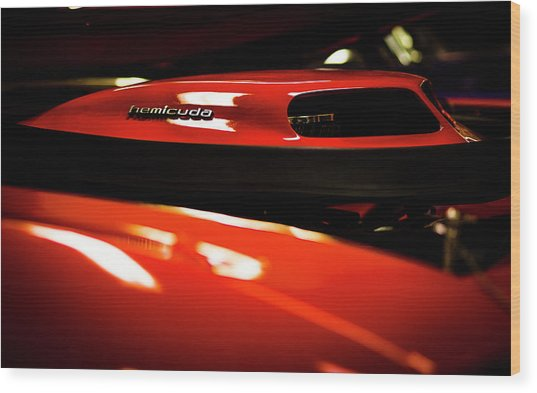 Red Rocket Wood Print