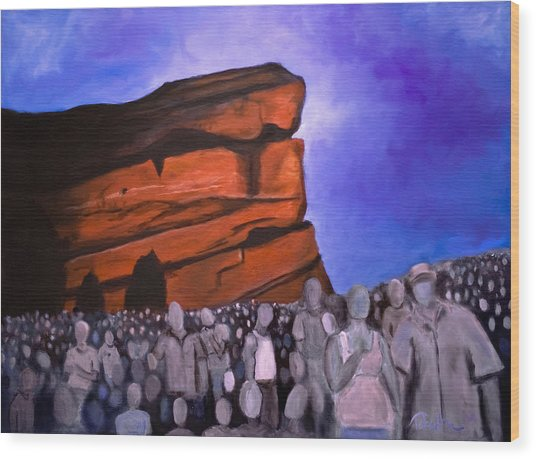 Red Rocks Wood Print by Tabetha Landt-Hastings