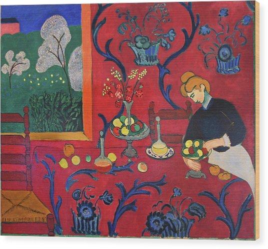 Red Room Wood Print by Henri Matisse