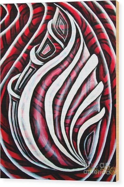 Red Rose 1 Wood Print