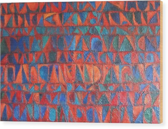 Red Sails At Sunset Wood Print