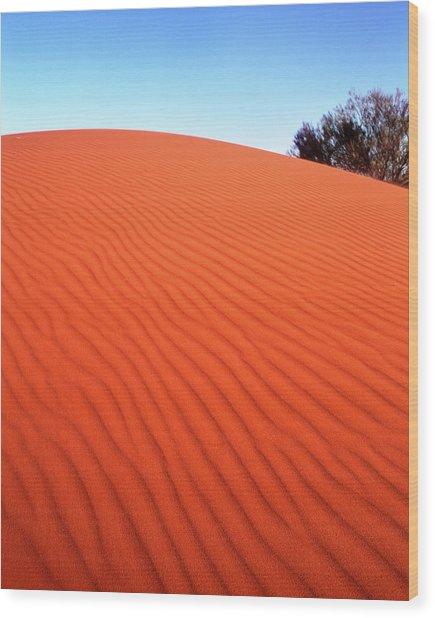 Red Sand Wood Print