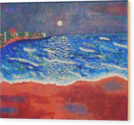 Red Sands Of Havana Wood Print
