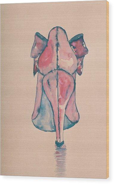 Red Shoe Wood Print by Oudi Arroni