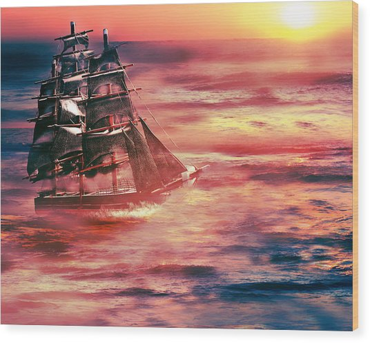 Red Sky In The Morning.... Sailors Take Warning Wood Print