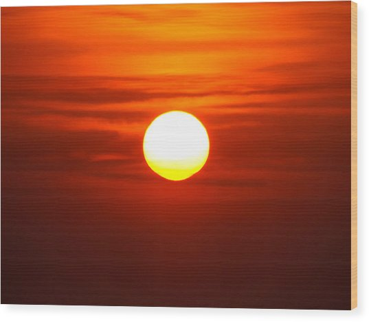 Red Sky Morning Wood Print