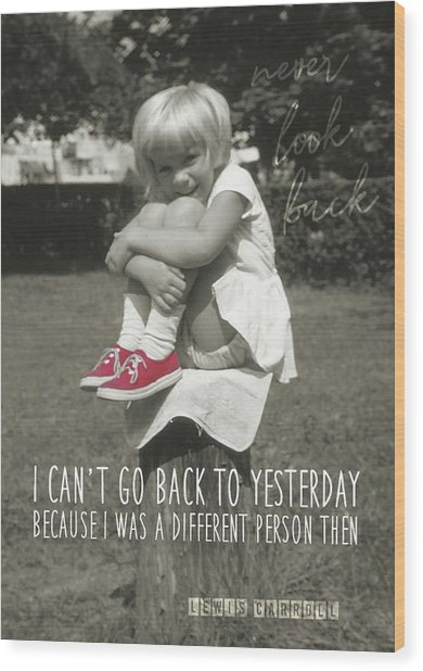 Red Sneakers Quote Wood Print by JAMART Photography