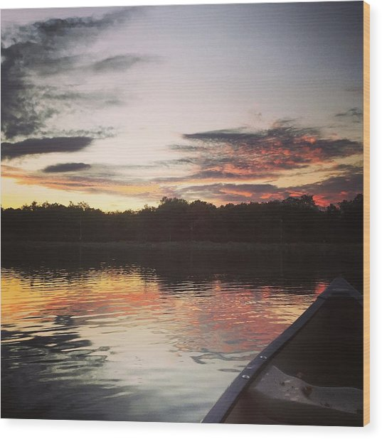 Red Spotted Sunset Wood Print