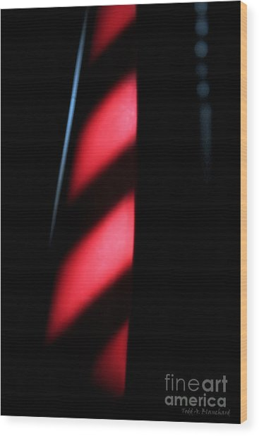 Red Stripes Wood Print