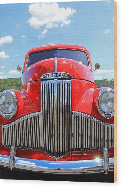 Red Studebaker Wood Print