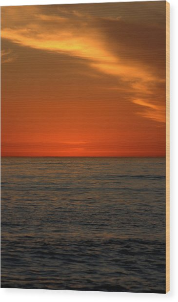 Red Sunset Wood Print by Brad Scott