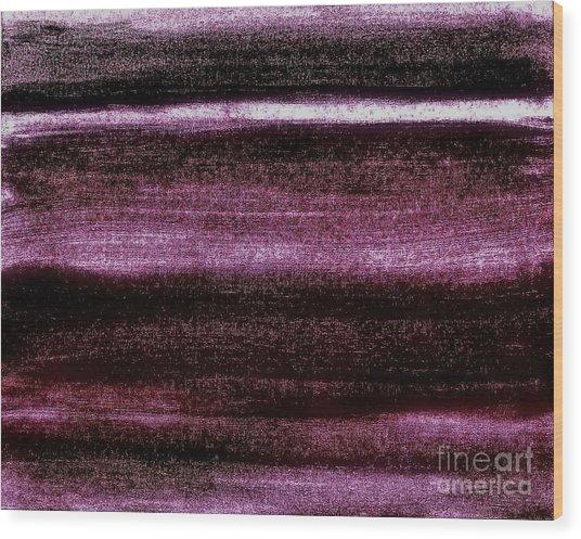 Red To Black Wood Print by Marsha Heiken