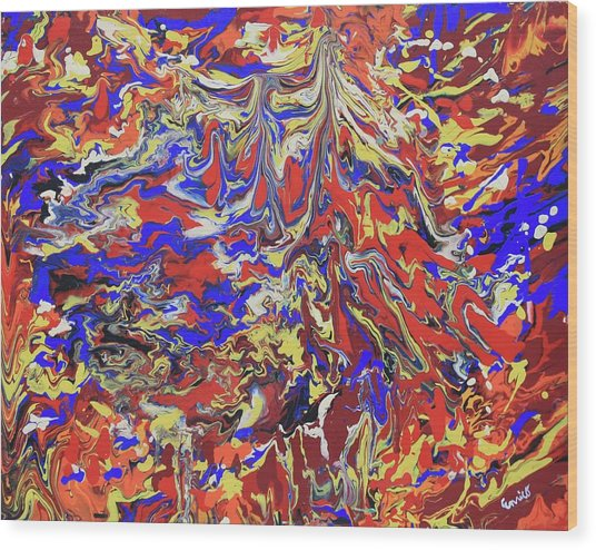 Red Toenails Wood Print