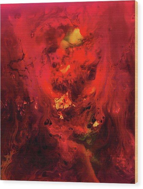 Red Universe Wood Print