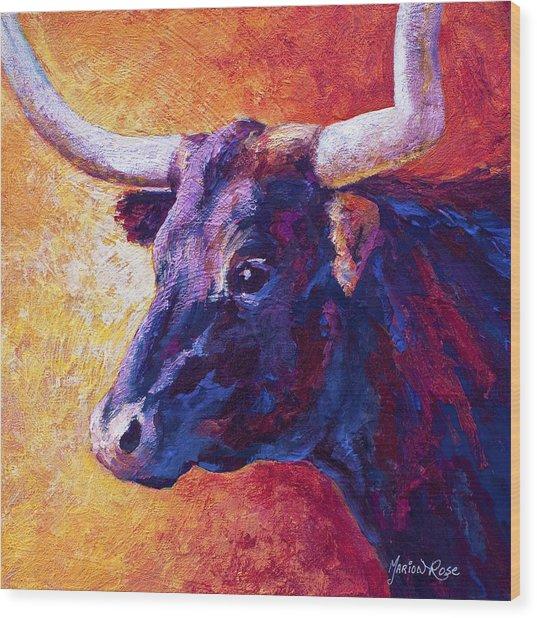 Red Violet Wood Print