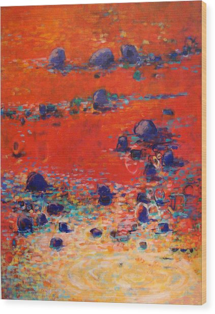 Red Waters Wood Print by Dale  Witherow