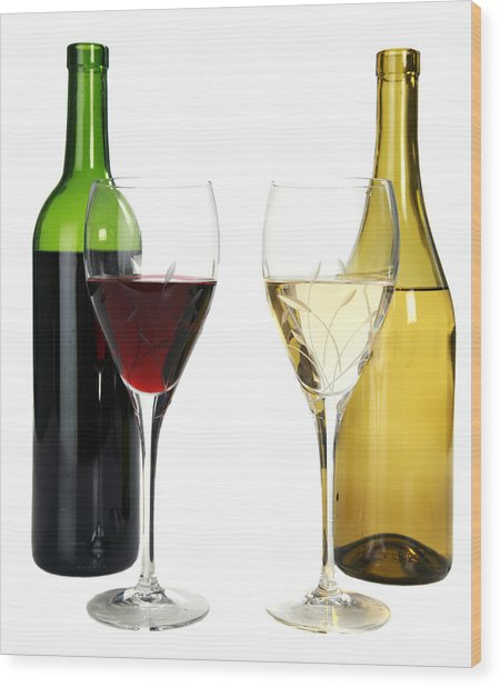 Red Wine And White Wine In Cut Crystal Wine Glasses Photograph By