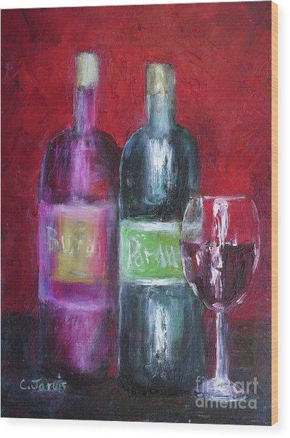 Red Wine Art Wood Print