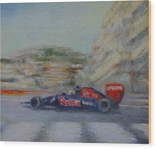 Redbull Racing Car Monaco  Wood Print