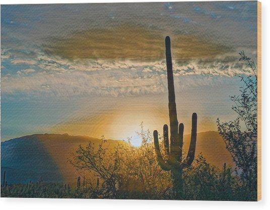 Wood Print featuring the photograph Reddington Ridge Sunrise Remix by Dan McManus