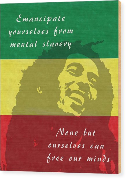 Redemption Song Free Our Minds Wood Print