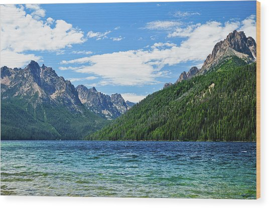 Redfish Lake Wood Print