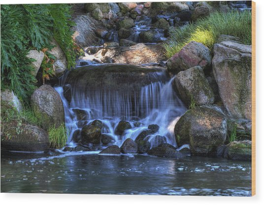 Redhawk Waterfall 10 Wood Print