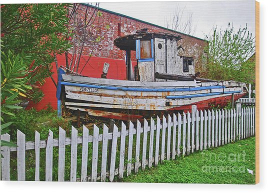 Redneck Dry Dock Wood Print