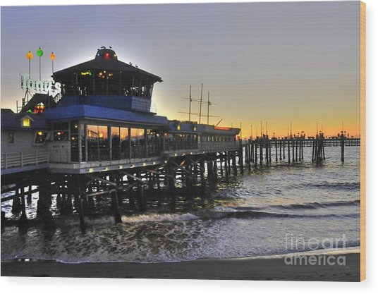 Redondo Pier North Wood Print