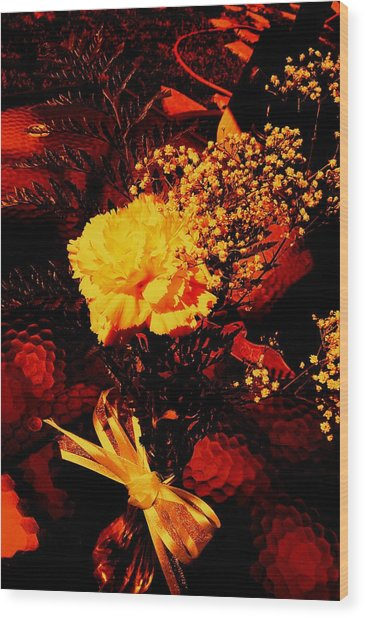 Reds And Yellows. Wood Print by Douglas Kriezel