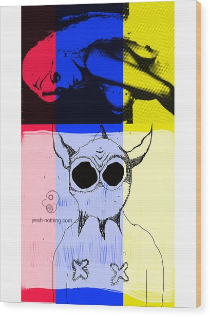 Red_yellow_blue Wood Print by Yeah Nothing