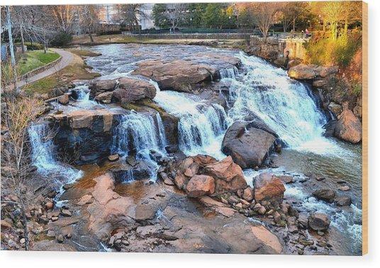 Reedy River Falls Wood Print