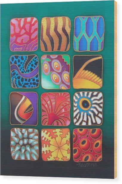 Reef Designs Viii Wood Print