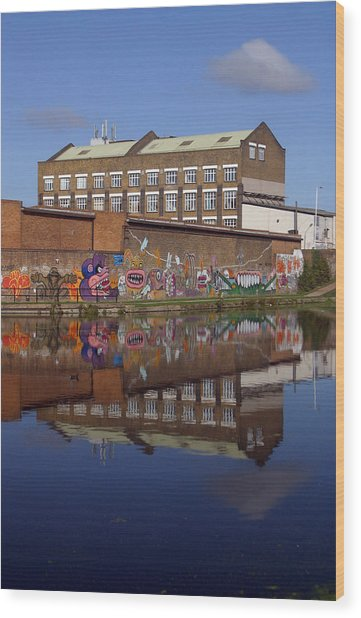 Refective Canal 2 Wood Print by Jez C Self
