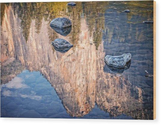 Reflected Majesty Wood Print