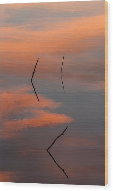 Reflected Sunrise Wood Print