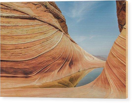 Reflected Wave Wood Print