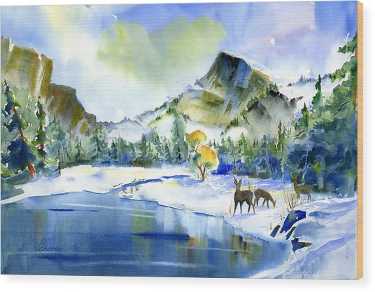 Reflecting Yosemite Wood Print