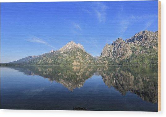 Reflection At Grand Teton National Park Wood Print
