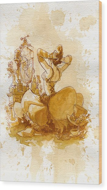 Reflection Wood Print by Brian Kesinger
