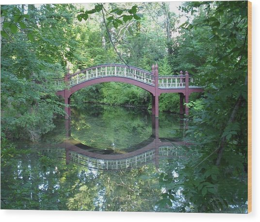 Reflection Bridge Wood Print