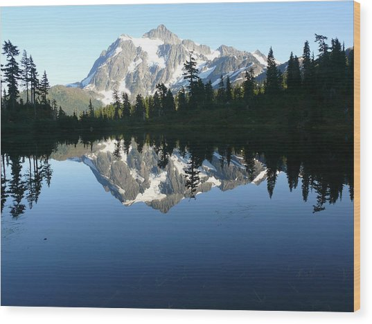Reflection Lake Wood Print by Joel Deutsch