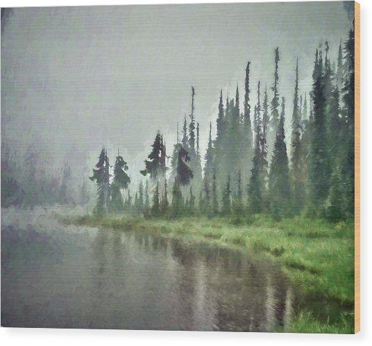 Reflection Lake, Mt Rainier Fine Art Print Wood Print