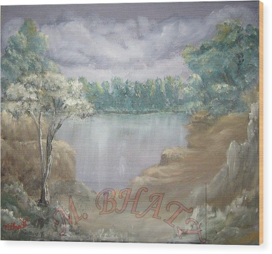 Reflection Wood Print by M Bhatt