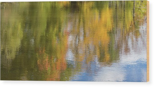 Reflection Of Fall #1, Abstract Wood Print